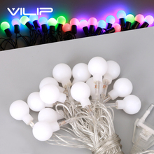 VILIP 28 LED String Lights Christmas Multicolor Lamps for Party Wedding Holiday Decoration Garden Indoor&Outdoor Garland 220v(China)