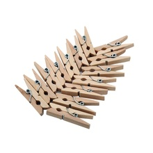 Wholesale 50pcs Mini Natural Wooden Clips For Photo Paper Clips Clothespin diy Craft Wedding Party Decoration Office Supplies