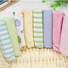 8pcs / lot Small Square Soft Cute Baby Towel Handkerchief for Infant Kid Children Feeding Bathing Face Washing Towel(China)