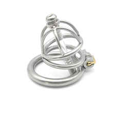 Buy 2016 New stainless steel male Lock cagee Male chastity silicone catheter male belt chastity device penis bondage catheter
