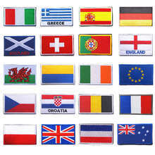 European Countries Flags Morale Patch England France Germany Belgium Italy European Union Flag 3D Embroidered Decorative Patch