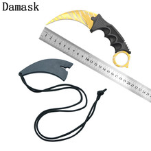 DAMASK New Arrival Gold Pattern Karambit Claws Knives CSGO Counter Strike Hunting Knives Camping  Knife Survival Camping Tools