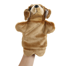 Dog Hand Puppet Adorable Cartoon Dog Hand Puppet Children Educational Soft Doll Animals Toys for Baby Kids(China)