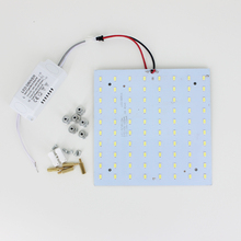 DIY 15W 180-265V Square Quadrate SMD5730 Magnetic LED Ceiling Light Bulb LED Panel Lamps for DIY(China)