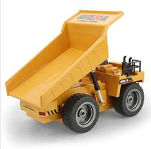 Huina 1540 RC Truck 2.4G 6 Channel Remote Control 540 Metal Dump Truck 4 Wheel Realistic Machine Durable Multi-function toys