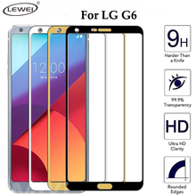 Full Cover Tempered Glass For LG G6 Screen Protector Film 5.7 inch 3D Round Edge Anti-Explosion 9H Hard Tempered Glass(China)