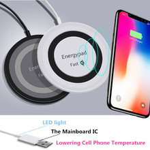 Newest Qi Wireless Charger For iPhone X Samsung Note 8 S8 Plus S7 S6 Edge Phone Fast Wireless Charging Docking Dock Station(China)