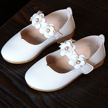 Solid Floral Kids Shoes Girls Soft Sole Flat Shoes Spring Autumn Princess Girl Casual Shoes for Baby Toddlers CSH296