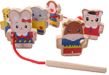 BOHS Mini Wooden Game String Threading Beads(China)