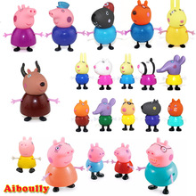 Aiboully series Toys PVC Action Figures Family Member peppaed george pig Toy Juguetes Baby Kid Birthday Gift brinque