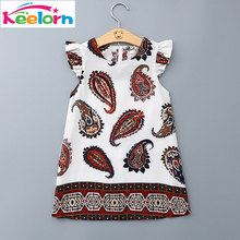 Girls Dresses 2017 Brand Princess Dress Kids Clothes Cartoon Pattern Design Kids Dress for Girls Clothes 3-8Y