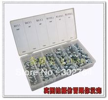diy hardware 150pcs R clip spring cotter assortment in a case