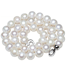 [Yinfeng]10mm Big Natural Pearl Necklace Pearl beads White Necklace Special offer Super Mother's Gift Wedding Jewelry