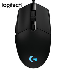 Logitech G102 Wired Mouse Gaming Laptop Original Optical 200-6000 DPI Gamer Mice Computer Games RGB Light Rechargeable LED Mause