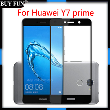 3D Full Cover Tempered Glass For Huawei Y7 Prime Screen Protector Guard For Huawei Y 7 Prime Y7Prime Protective Film(China)