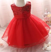 New 2017 Summer Sequins Baby Girl Dress For Formal Evening Prom Party Toddler Girls Clothes 1 Year Baby Girl Birthday Tutu Dress