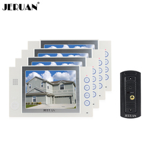JERUAN 8 inch video doorphone doorbell IR Kit camera doorphone intercom system video door phone speaker intercom recording