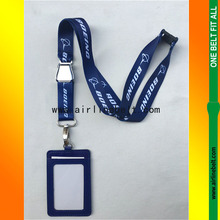 Boeing Lanyard for Pliot Flight Crew 's License ID Card Holder Boarding Pass S Airline Metal Buckle Personality Unique Gift
