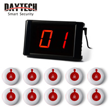 Restaurant Wireless Calling System Guest Pager System Waiter Call Button LCD Panel 433MHZ Table Buzzers