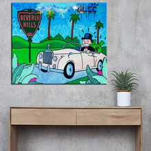 New car Alec monopoly Graffiti art print canvas for wall art decoration oil painting wall painting picture No framed