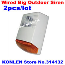 wired outdoor electronic siren sounds with strobe, big size sirene alarm 120db, DHL free ship 2pcs/lot