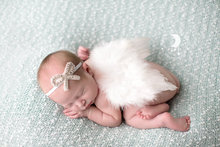 New hot White Feathered Angel Wings Couture Rhinestone Bow Headband Perfect girls Photo Prop kids Wing Set Hair Accessories