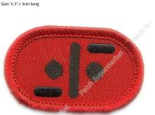 V TV SERIES MINI CAP Collar red logo patches Cosplay Costume Embroidered applique iron on badge clothes clothing Alien Swastika(China)