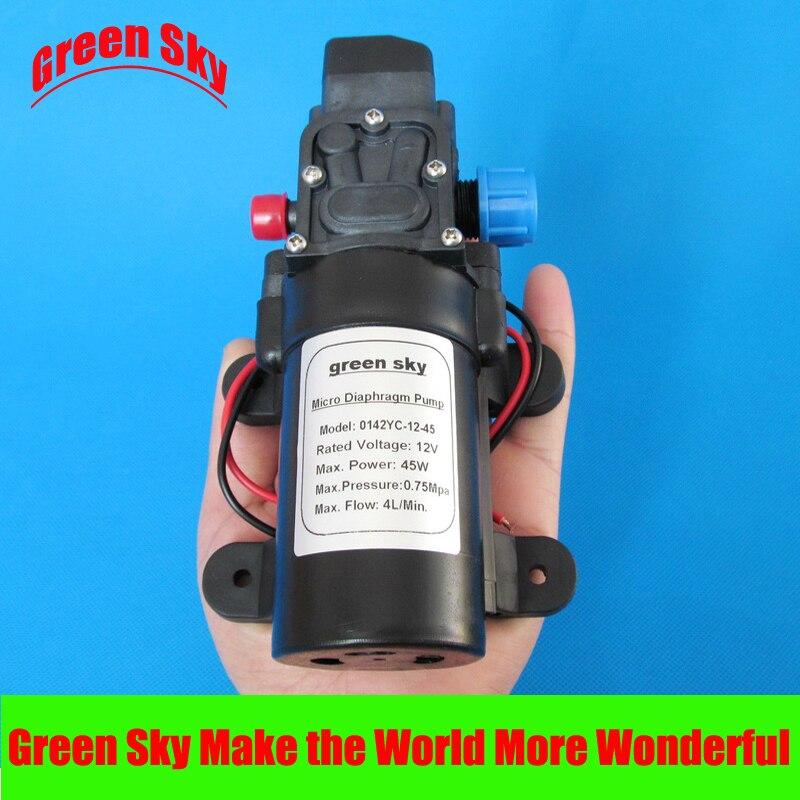 DC 45W automatic switch high pressure 4L/min self priming sprayer diaphragm pump 12v<br>