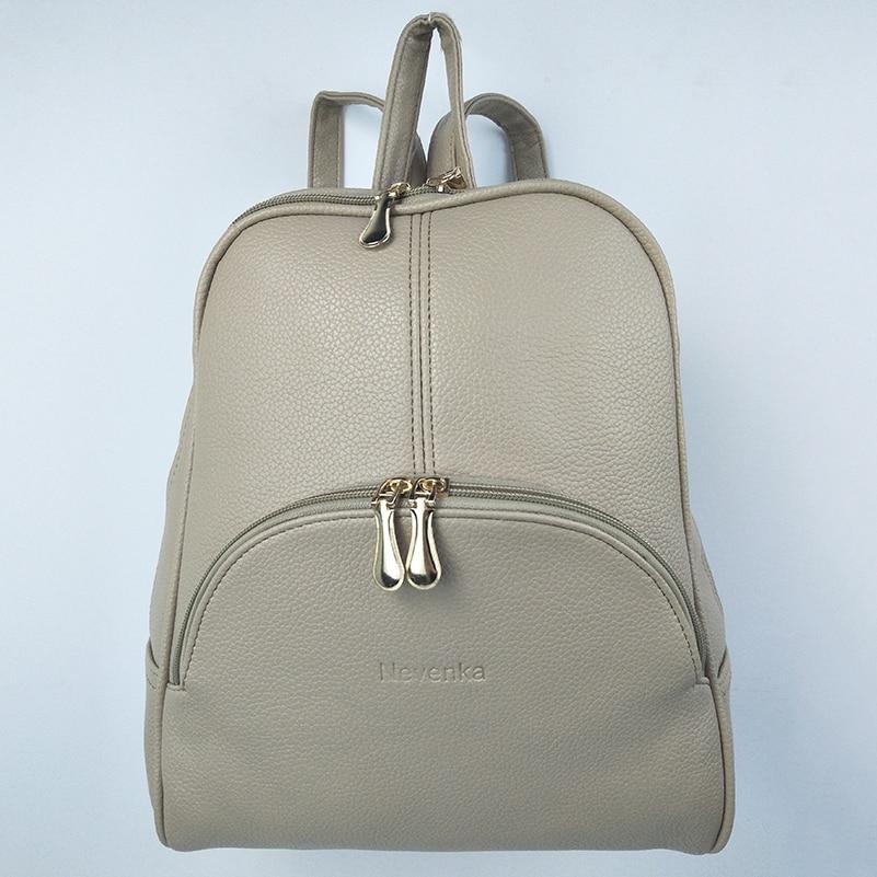 Nevenka Women Backpack Leather Backpacks Softback Bags Brand Name Bag Preppy Style Bag Casual Backpacks Teenagers Backpack Sac14