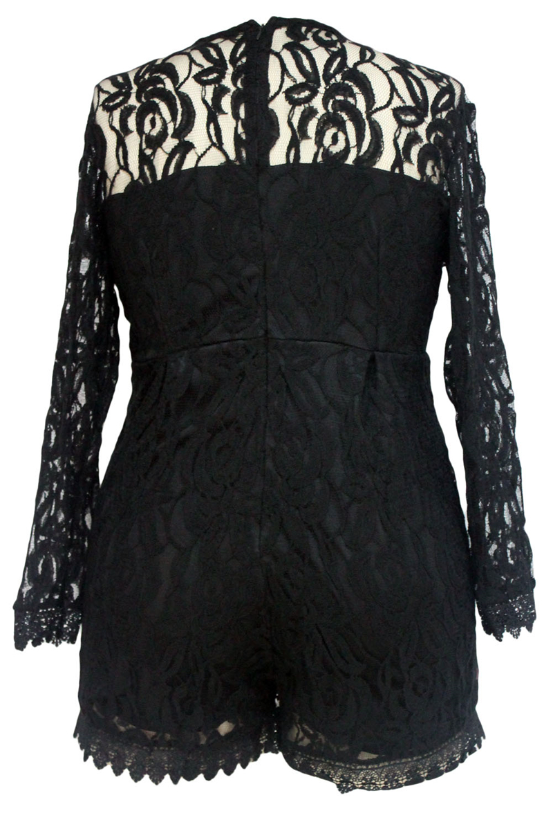 Black-Plus-Size-Long-Sleeve-Lace-Romper-LC60599-2-34641