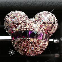 Mickey head Car Decoration Blowing air outlet Air fresheners(China)