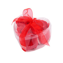 3Pcs/Lot Rose Soap Flowers Heart-Shaped Gift Box With For Creative And Romantic Wedding Home Decoration(China)