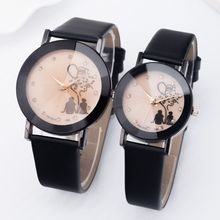 2016 lovers watch fashion mens women ladies love heart leather watch leisure dress quartz casal wrist watch china cheap watch