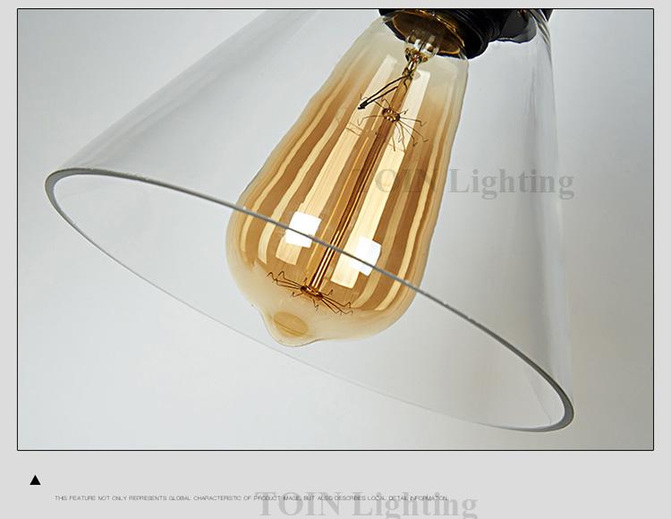 Loft RH Vintage Pendant Lights Glass Industrial Pendant Lamps Metal Retro Lustres Hanging Fixtures luminaire suspendu E27 D98 7
