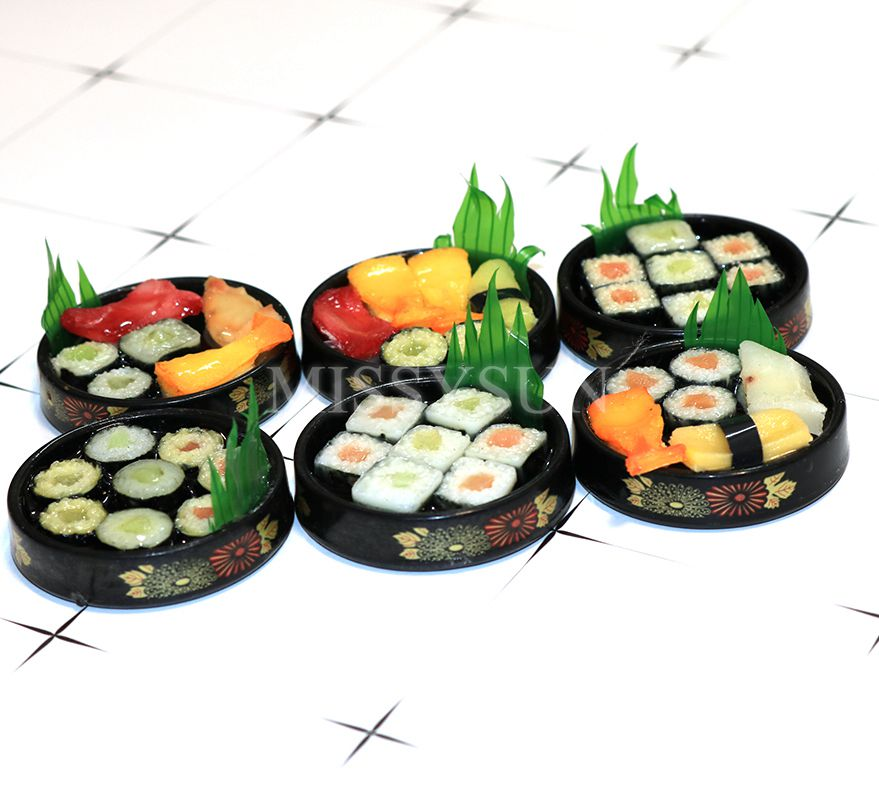 1:6 Dollhouse Miniatures Japanese Food Sushi Supply Deco Barbie Blythe Accessory
