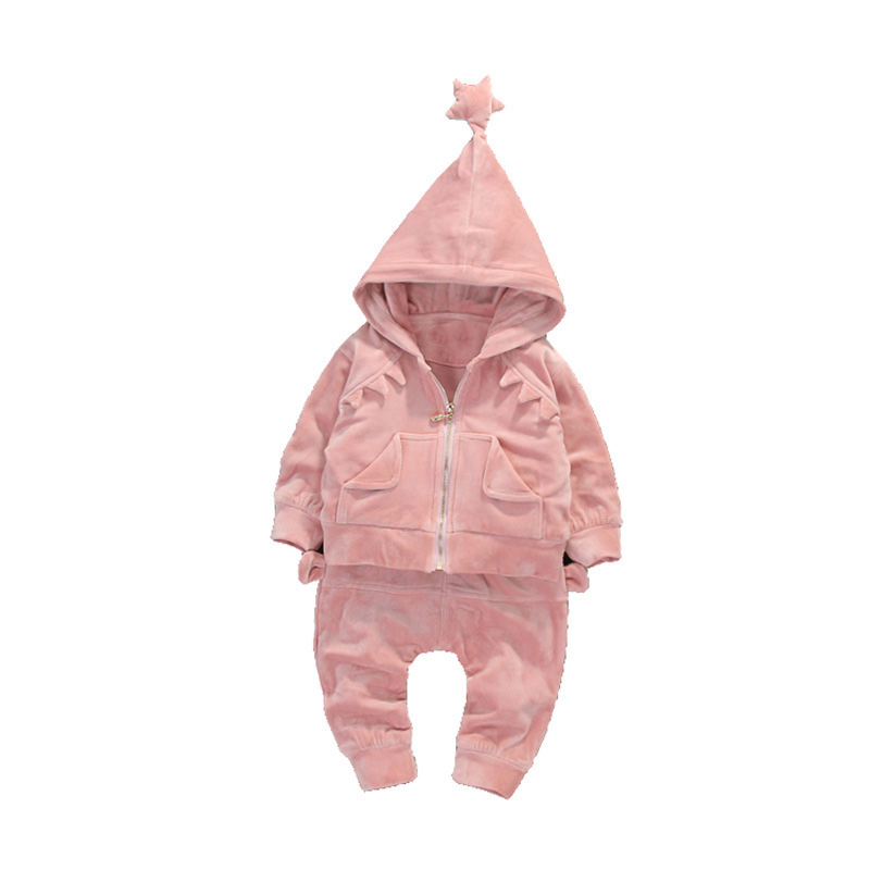 Fashion Autumn Kids Girls Baby Infants Children Star Hooded Coats Outwear Jackets+Long Pants 2PCS Casual Clothing Sets MT1462<br>