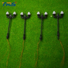 5PCS Architectural Scale Model Layout Two Head Garden Lights Lamppost Lamp  Model Garden iron Lamps