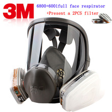 3M 6800+6001 respirator gas mask Brand protection 3M respirator mask against Organic gas steam Painting pesticide gas mask(China)