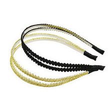 1pcs Fashion Metal Crystal Headband Head Piece Hair Band Jewelry for Women Lady(China)
