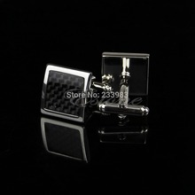 Free Shipping Stainless Steel Silver Vintage Men's Wedding Gift Classical Grid Cuff Links(China)