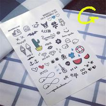 2017 Rushed Hot Sale Tattoo Men Waterproof Temporary Tattoo Stickers Cute Pattern Cartoon Designs Styling Tool Cactus Paragraph