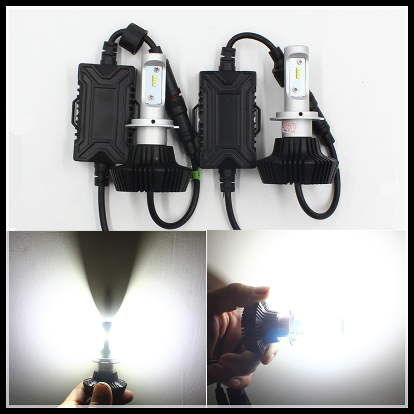 G7 50W 8000LM PH LUXEON ZES H7 LED headlight H7 Car LED headlight headlamp fog DRL light bulb Car Auto H7 LED headlight<br>