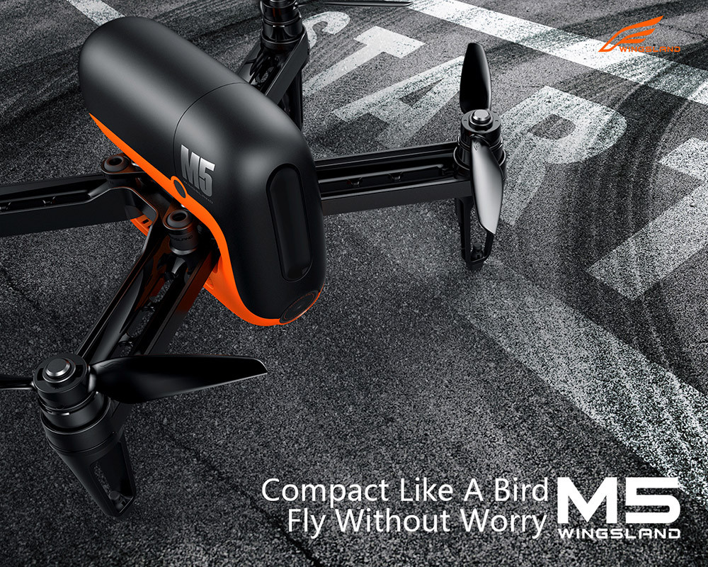 M5 GPS WIFI FPV RC Drone With Ultrasonic Altitude Holding Point RTF GPS-Assited Hover Optical Flow Positioning Free Shipping