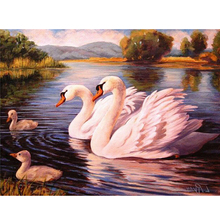 5d diy diamond painting cross stitch kit diamond embroidery animal swan picture drill diamond mosaic pattern home decor gift(China)