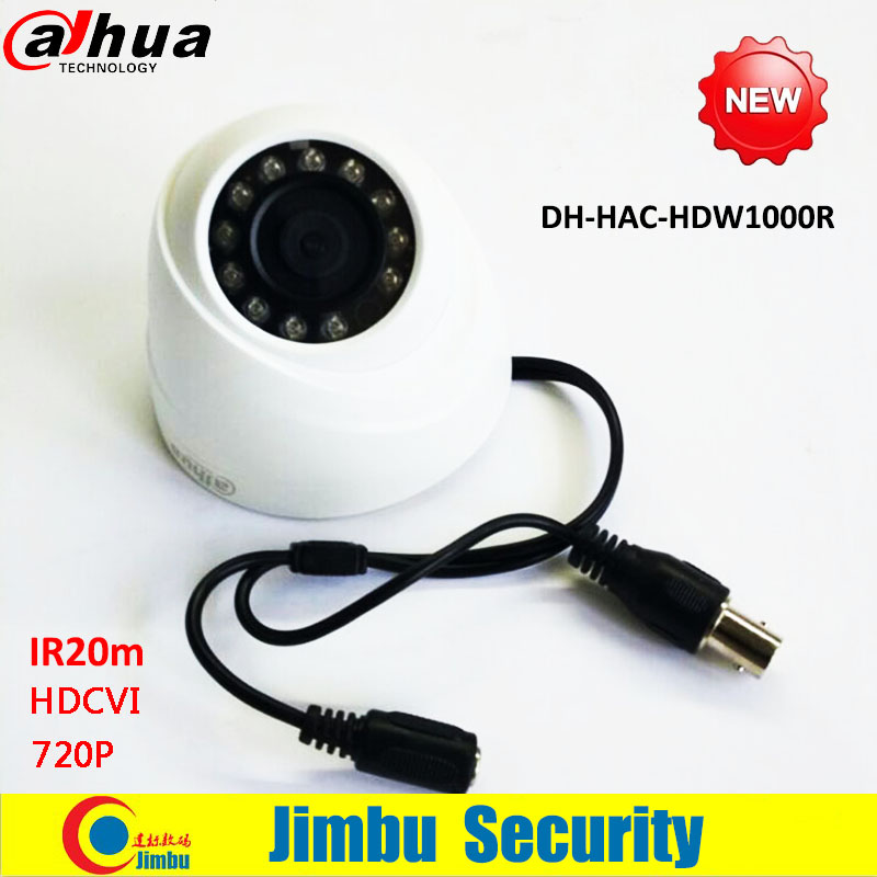 DAHUA HDCVI DOME Camera 1/2.9 1Megapixel CMOS 720P IR 20M indoor HAC-HDW1000R dahua cctv security camera dahua coaxial camera<br><br>Aliexpress