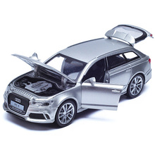 Double Horses 1:32 Scale Diecast Alloy Metal Luxury SUV Car Model For Audi RS6 Quattro Collection Model Pull Back Toys Car With(China)