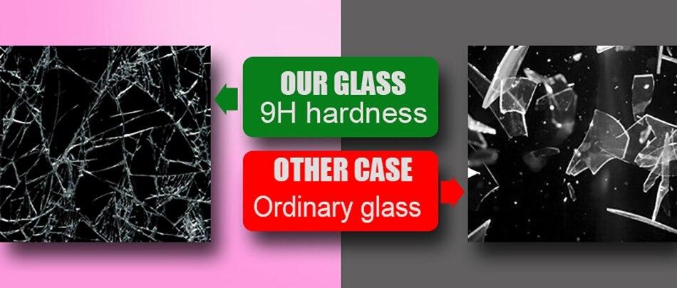 iPhone X Xr Xs Max豪华硅胶手机壳适用于iPhone 6的iPhone 7 8 Plus手机壳适用于iPhone 6 6S Coque的渐变钢化玻璃保护套(5)
