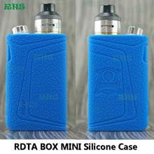 IJOY RDTA Box Mini 100W TC Kit Case E-cigs rdta atomizer Silicone case with 13 Colors for choice free shipping(China)