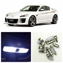 10pcs Super Bright White LED Light Bulbs Interior Package Kit For 2004-2010 Mazda RX-8 RX8 Map Dome License Plate Lamp(China)