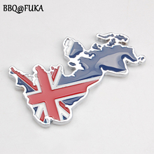 England UK Britain Land Flag 3D Metal Car Styling Badge Emblem Sticker Fit For Honda Land Rover Universal Auto Decal Accessories(China)